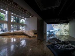 "Fiona Banner<br><em>Pranayama Typhoon</em><br><span class=""oc-gallery"">Barakat Contemporary</span>"