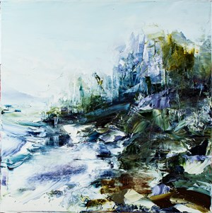From where I stand - Misty wet with rain by Aaron Kinnane contemporary artwork