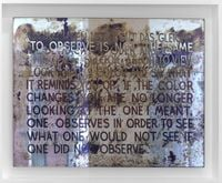 If The Colour Changes by Mel Bochner contemporary artwork sculpture