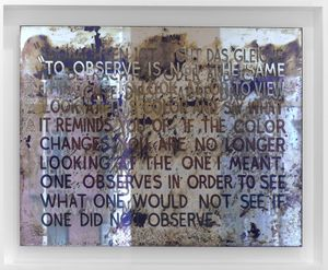 If The Colour Changes by Mel Bochner contemporary artwork