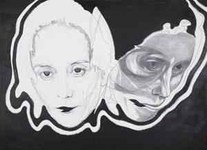SNAKE FACE by Franz Graf contemporary artwork