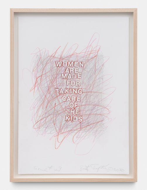 Scrawl #23 by Betty Tompkins contemporary artwork
