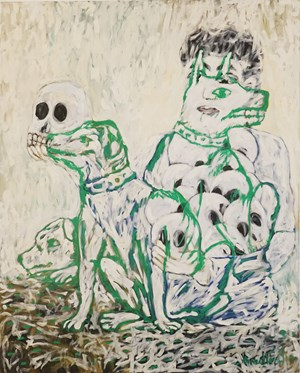 White Dogs by Vincent Leow contemporary artwork