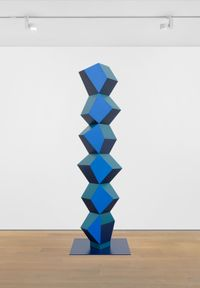 Heavy Metal Stack of Six: Bustle Hedgerow by Angela Bulloch contemporary artwork sculpture