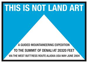 This Is Not Land Art. Alaska USA 2004 by Hamish Fulton contemporary artwork
