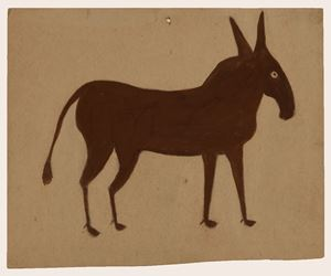 Brown Mule by Bill Traylor contemporary artwork