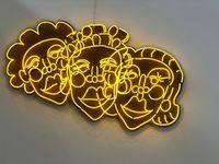 Wash N' Set [Yellow] by Tschabalala Self contemporary artwork mixed media