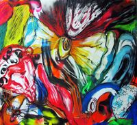 Never Ending (Cosmic Poetry Series) by Kaung Su contemporary artwork works on paper, drawing