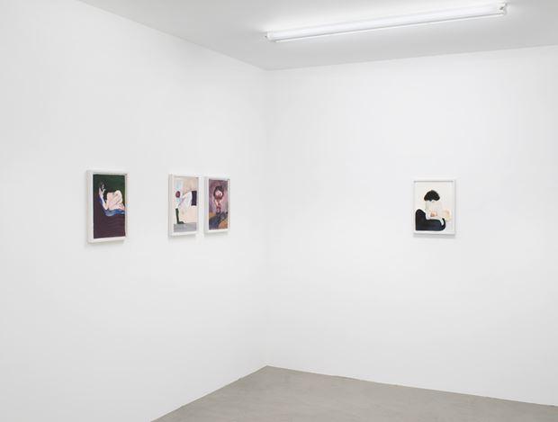 Exhibition view: Sanya Kantarovsky,Frozen Dress (Part Three), Capitain Petzel, Berlin (10 September–7 November 2020) © the artist and Capitain Petzel, Berlin. Ph: Jens Ziehe