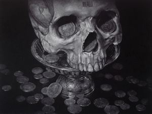 Price of Life (Black Lilac Edition) by Wal Chirachaisakul contemporary artwork