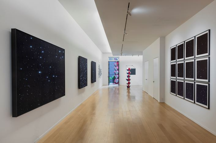 "Exhibition view:  Angela Bulloch, ""…then nothing turned itself inside-out and became something."" Simon Lee Gallery, New York (2 May–15 June 2019). Courtesy the artist and Simon Lee Gallery."