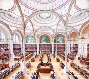 La Salle Labrouste - La Bibliothèque de l'INHA Paris I 2017 by Candida Höfer contemporary artwork