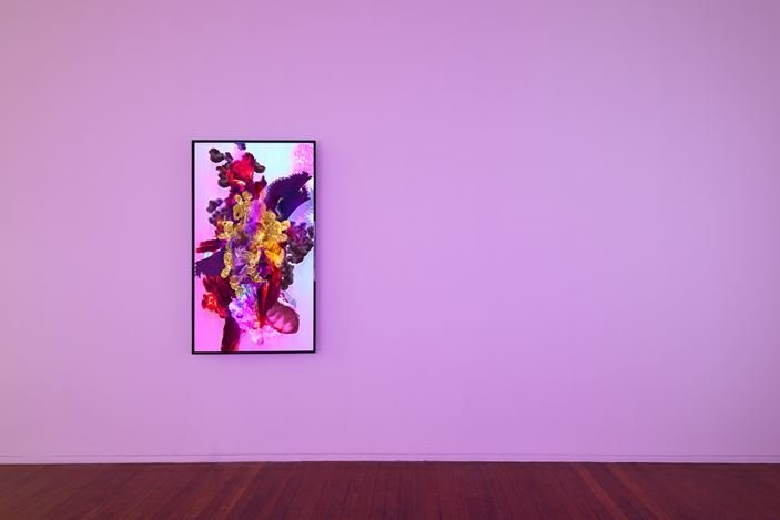 Exhibition view: Harley Ives, Garland for YouTube, Roslyn Oxley9 Gallery, Sydney (7–29 February 2020). Courtesy Roslyn Oxley9 Gallery. Photo: Luis Power