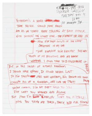 Journal Page #6 by SCOTT AVETT contemporary artwork