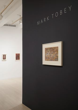 Exhibition view: Mark Tobey, Pace Gallery, 32 East 57th Street, New York (25 October 2018–12 January 2019). © 2018 Mark Tobey / Seattle Art Museum, Artists Rights Society (ARS), New York.Courtesy Pace Gallery. Photo: Mark Waldhauser.
