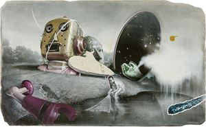 Salvage the Missing Leg of Robot by Kuo Wei-Kuo contemporary artwork