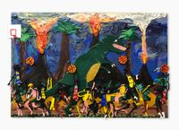 let's have a game of jungle ball by Devin Troy Strother contemporary artwork painting, drawing