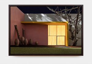 Yellow Overhang with Patio by James Casebere contemporary artwork