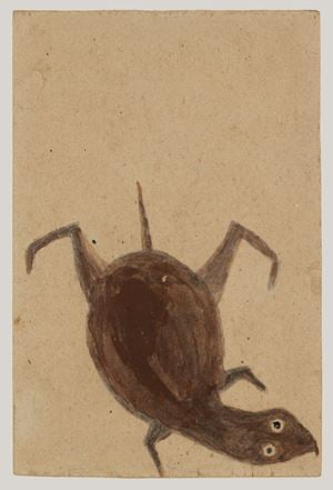 Turtle Swimming Down by Bill Traylor contemporary artwork