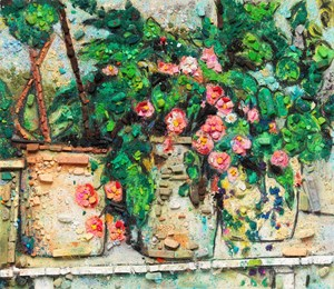 Metachrome (Still Life with Begonias, after Paul Cézanne) by Vik Muniz contemporary artwork