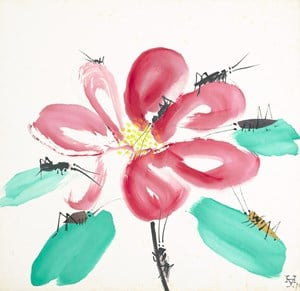 Flower and Bug 花和蟲 by Hsia Yan contemporary artwork