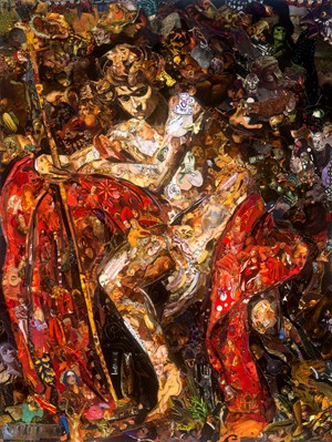 Repro (Saints): Saint John the Baptist in the Wilderness by Vik Muniz contemporary artwork