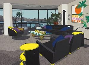 Jersey City Apartment by Jonas Wood contemporary artwork