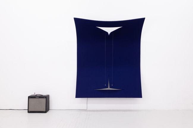 Work on Felt (Variation 27) Dark Blue by Naama Tsabar contemporary artwork