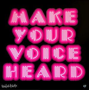 Make Your Voice Heard (Pink) by Ben Eine contemporary artwork