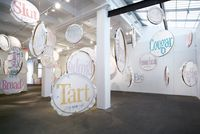 Badges by Lin Tianmiao contemporary artwork installation, textile, textile, textile