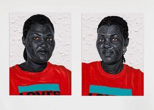 Akwele & Akuoko by Otis Kwame Kye Quaicoe contemporary artwork painting, works on paper