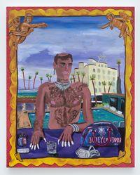Fierce Drag Jewels (Portrait of Jacob Pollin) by Marcel Alcalá contemporary artwork painting