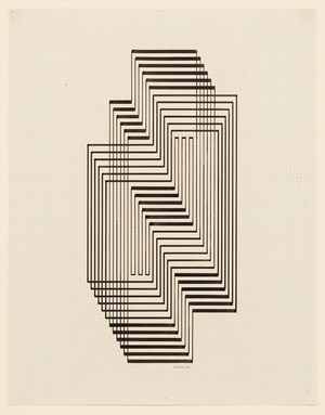 Study for Graphic Tectonic (Ascension) by Josef Albers contemporary artwork