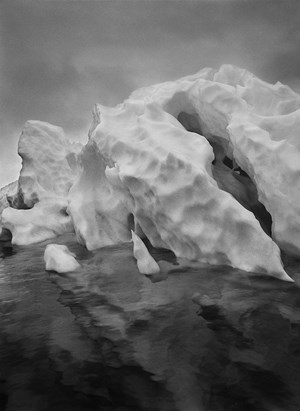 Iceberg moving on the Weddell Sea, Antarctic Peninsula by Sebastião Salgado contemporary artwork