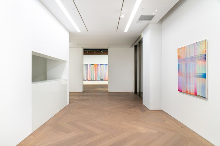 Exhibition view: Bernard Frize, The Other Side (From Right-to-Left or the Reverse), Perrotin, Shanghai (2 April–29 May 2021). Courtesy the artist and Perrotin. Photo: Mengqi Bao.