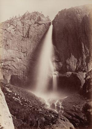 Upper Yosemite Falls, View from Eagle Point Trail, Yosemite by Carleton E. Watkins contemporary artwork