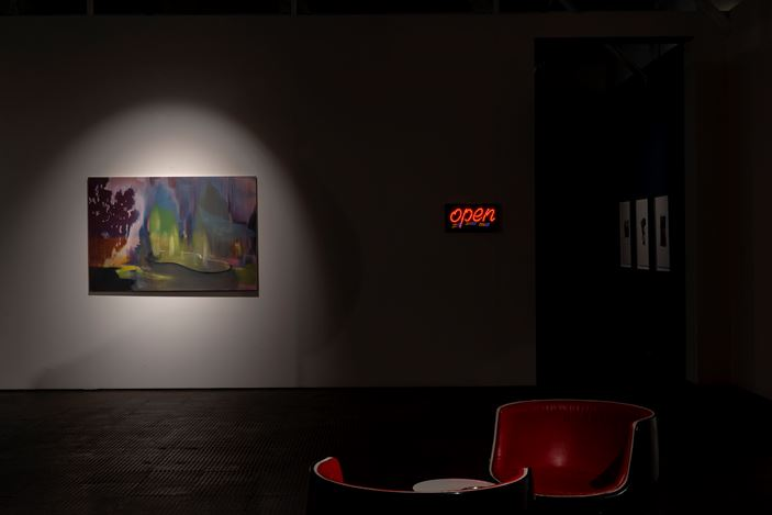 Exhibition view:Kate Gottgens,Skyglow on Mars Black, SMAC Gallery, Cape Town (10 December 2020–6 February 2021). Courtesy SMAC Gallery.