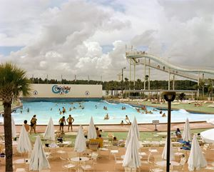 Wet'n Wild Aquatic Theme Park, Orlando, Florida, September 1980 by Joel Sternfeld contemporary artwork