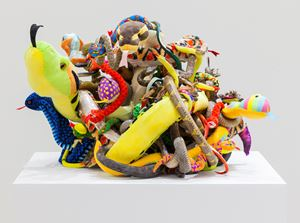 Snakes (A monument to the eternal battle between truth and fiction) by Tony Tasset contemporary artwork sculpture