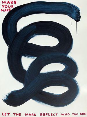 Make your mark by David Shrigley contemporary artwork