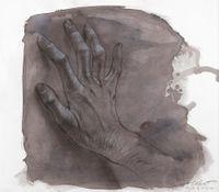 Angèle de Foligno by Ernest Pignon-Ernest contemporary artwork painting, works on paper, drawing