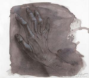 Angèle de Foligno by Ernest Pignon-Ernest contemporary artwork