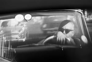 While in traffic: Homage to Frederico Fellini. Johannesburg, 1967 by David Goldblatt contemporary artwork