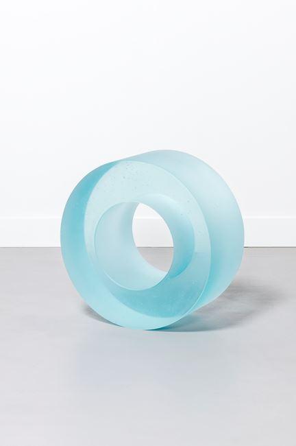 Blue Glass Roll 405 by Ann Veronica Janssens contemporary artwork