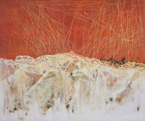 Redness Of  The Sky by Tsang Chui Mei contemporary artwork painting
