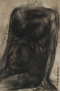 Torso-I (Man) by Jogen Chowdhury contemporary artwork works on paper
