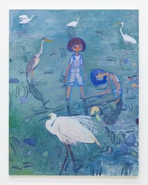 Many kinds of herons by Makiko Kudo contemporary artwork