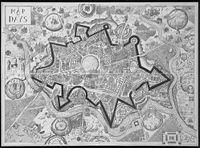 Map of Days (Black) by Grayson Perry contemporary artwork print