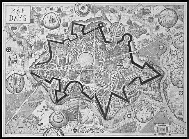 Map of Days (Black) by Grayson Perry contemporary artwork