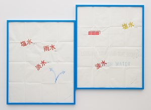 FRESH WATER (LOOKING TOWARD THE MONT) by Lawrence Weiner contemporary artwork